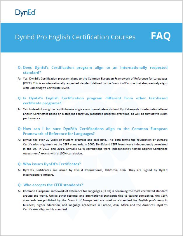 Certification FAQs