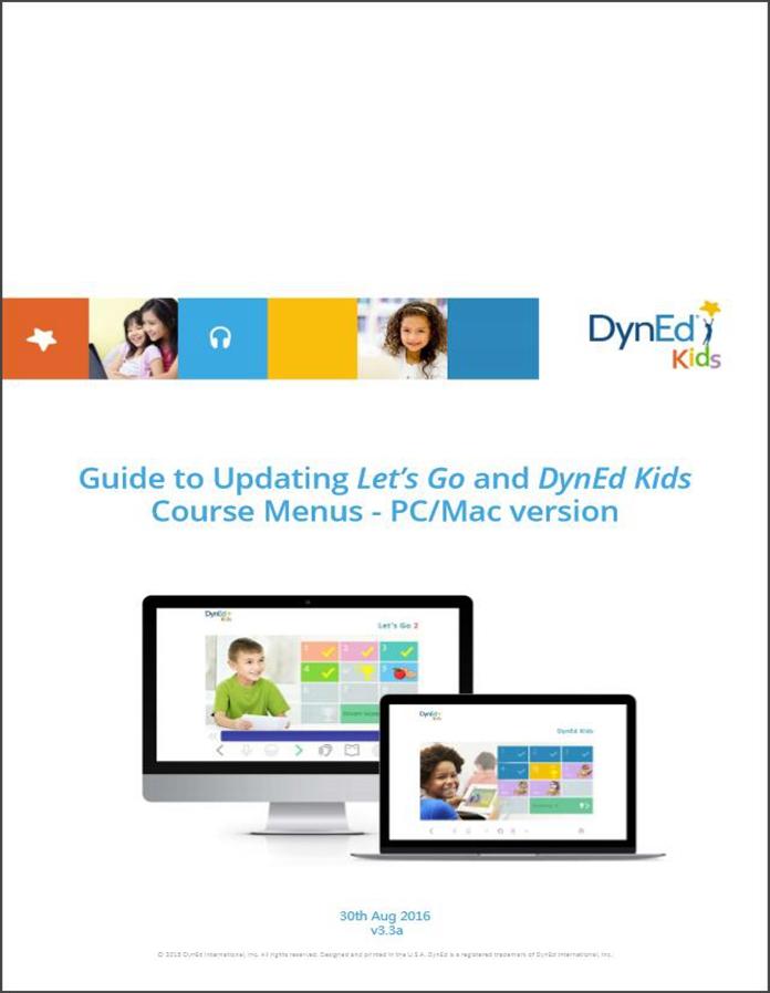 DynEd Kids Menu Upgrade Guide PC-EN截图